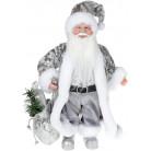 "Декоративная фигура ""Санта с мешком"" 30см, серебристый BD-NY14-513"