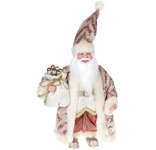 "Декоративная фигура ""Санта с мешком"" 30см, розовый BD-NY14-517"