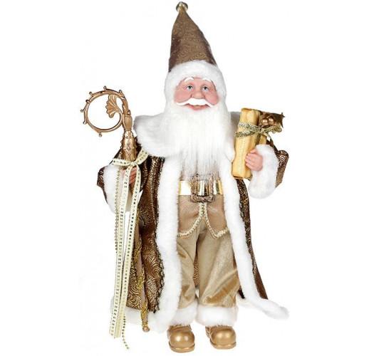 """Декоративная фигура """"Санта с посохом"""" 45см, золотистый BD-NY14-524"""