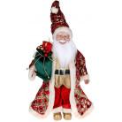 """Декоративная фигура """"Санта с мешком"""" 45см, красный с изумрудом BD-NY14-531"""