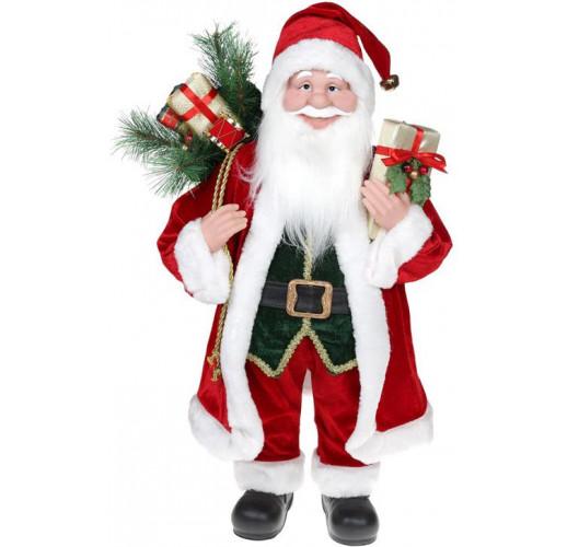 """Декоративная фигура """"Санта с подарками"""" 60см, красный с золотом BD-NY14-535"""