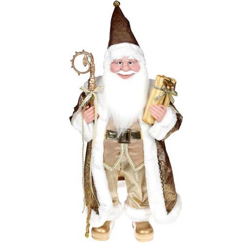 """Декоративная фигура """"Санта с посохом"""" 60см, золотистый BD-NY14-537"""