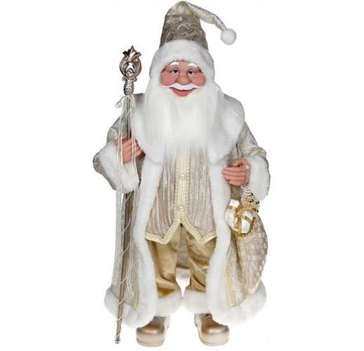 "Декоративная фигура ""Санта с посохом"" 60см, шампань BD-NY14-539"