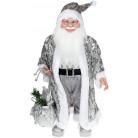 "Декоративная фигура ""Санта с мешком"" 60см, серебристый BD-NY14-540"