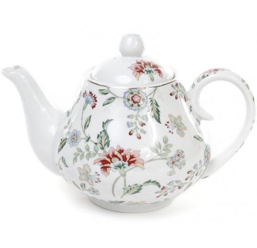 """Заварочный фарфоровый чайник """"Альпийский сад"""" 1000мл BD-XX953-F"""