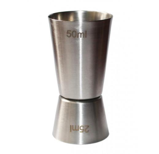 Джиггер Hauser 50мл/25мл. Мерный стакан из нержавеющей стали