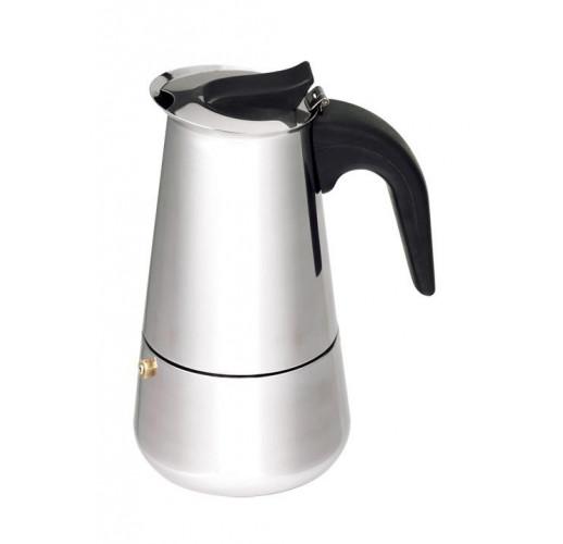 Гейзерная кофеварка Empire Stainless Steel 200мл на 4 чашки EM-9556