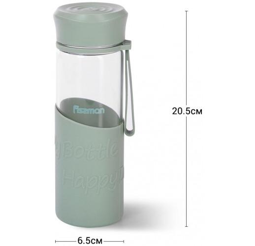 Бутылка спортивная Fissman Sport Line 500мл, стеклянная, мятная