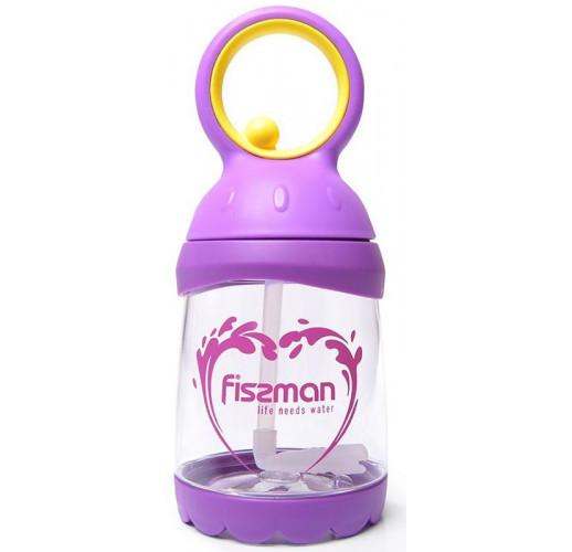 Бутылка детская Fissman Candy 260мл с трубочкой, пластик