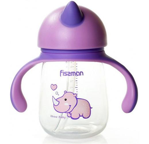 """Бутылочка детская Fissman Babies """"Носорог"""" 260мл с ручками FN-6901"""
