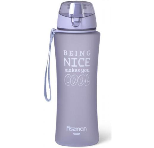 Бутылка спортивная Fissman Sport Line 650мл пластиковая, серо-лиловая