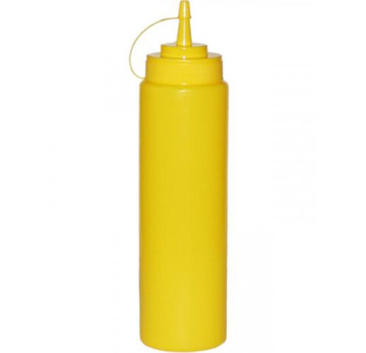 Диспенсер для соусов и сиропов 700мл желтый с колпачком EM-7081