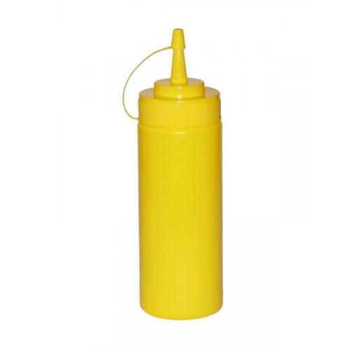 Диспенсер для соусов и сиропов 350мл желтый с колпачком EM-7082