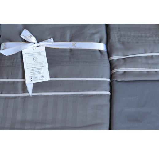 Deluxe Satin 200 х 220 см Stripe Style Antraсite
