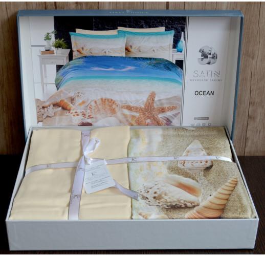 3D Satin 200×220 Digital Series Ocean