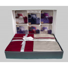 Cotton Satin 200 х 220 см Duet Style Red-Beige