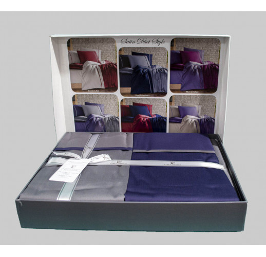 Cotton Satin 200 х 220 см Duet Style Duman Indigo