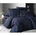 Deluxe Satin 200 х 220 см Stripe Style Navy Blue