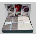 Cotton Satin 200 х 220 см Duet Style Ivory-Mink