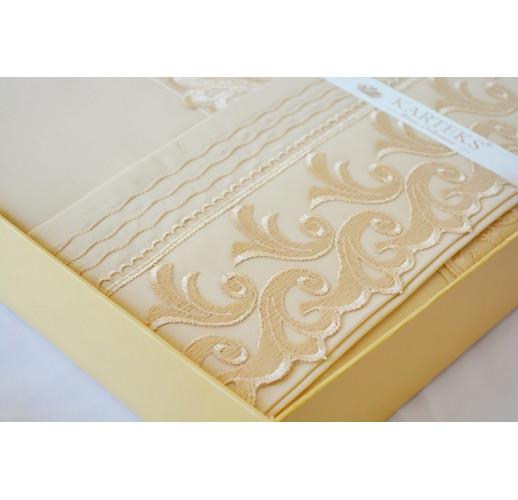Percal lux 200×220 Wedding v9, Capuccino