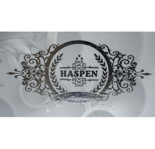 Велюрова скатертина з мереживом Haspen 160×350 cм Marina