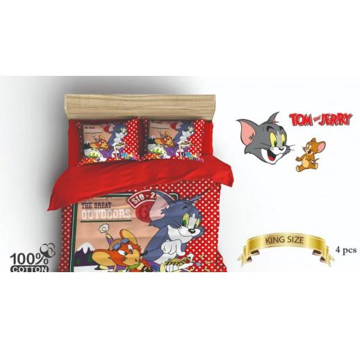 Marchio Ranfors : Дитяча постільна білизна 160×220 Tom and Jerry read