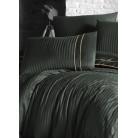Deluxe Satin 200 х 220 см Stripe Style Dark Green