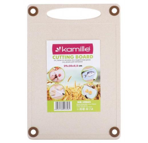 Доска кухонная Kamille Natural Care 29х20см из пшеничного волокна
