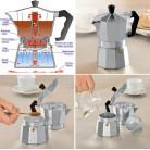 Гейзерная кофеварка Kamille на 3 чашки 150мл KM-2500