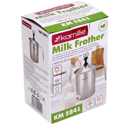 Вспениватель для молока Kamille Frother 400мл, ручной KM-5841