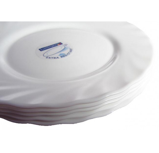 Десертная тарелка Luminarc Trianon White Ø19см, стеклокерамическая LUM-H4124