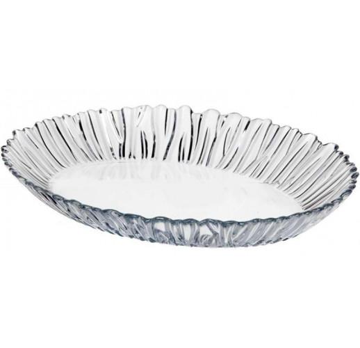 Блюдо овальное Aurora 33х25см стеклянное