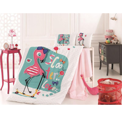 Детское постельное белье Belizza «Flamingo» для новорожденных, 100% хлопок