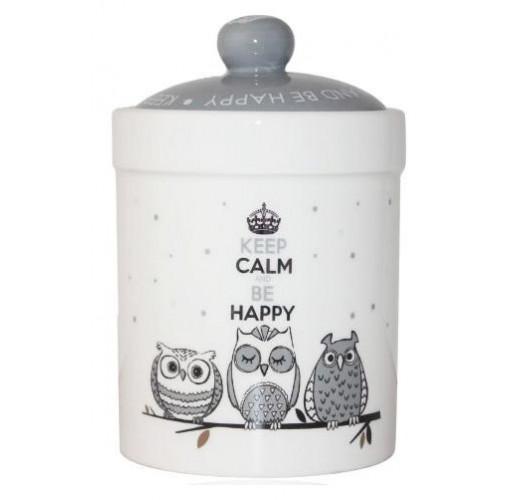 Банка керамическая Be Happy «Совушки» 700мл ST-6922-18