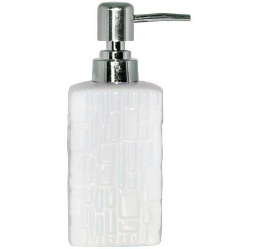 """Дозатор для мыла """"Аметист"""" керамический 350мл, белый ST-887-03-02"""
