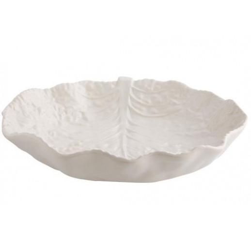 Блюдо сервировочное Bordallo Pinheiro Cabbage 35x25см Бежевое TR-65017616